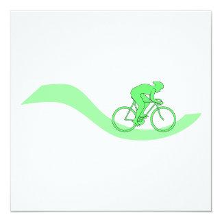 Cyclist Design in Green. Card