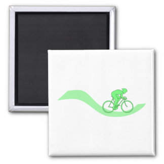 Cyclist Design in Green. Magnets