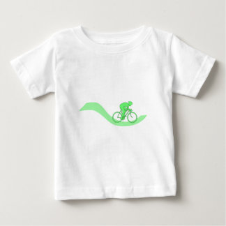 Cyclist Design in Green. T Shirts