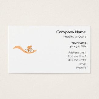 Cyclist Design in Orange. Business Card
