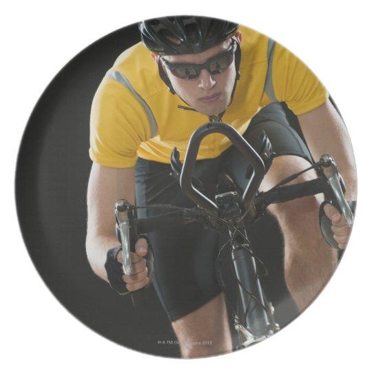 Cyclist Dinner Plate