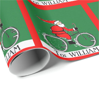 Cyclist Gift Ideas Wrapping Paper