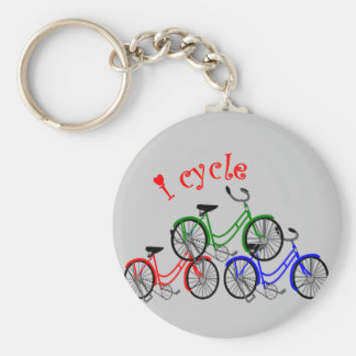 Cyclist Gifts (Bicycling) design Keychains