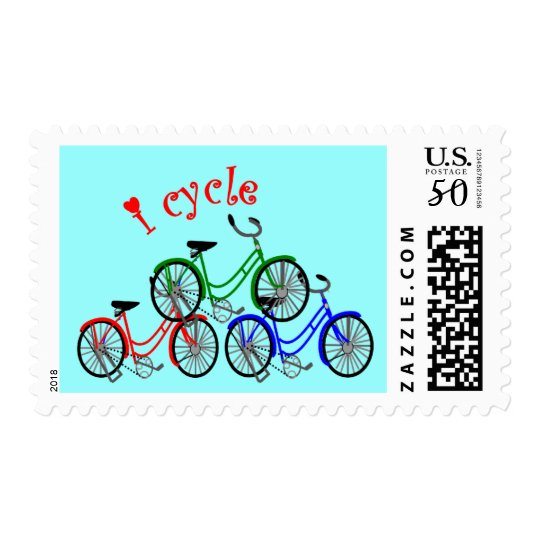 Cyclist Gifts (Bicycling) design Postage