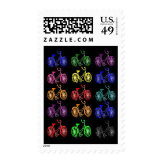 Cyclist Gifts, Vintage 1950 Bicycle Design Stamp