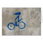 Cyclist Graffiti Card