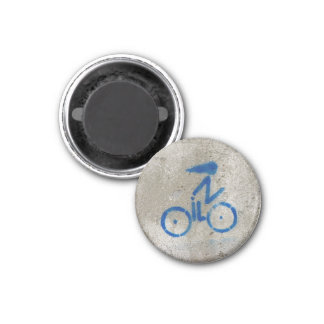 Cyclist Graffiti Card Magnet