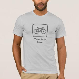 Cyclist Grey Logo -- Customizable T-Shirt