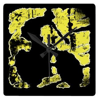 Cyclist Grunge logo Wall Clock