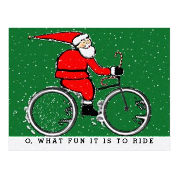 christmastee Cyclist Holidays Postcard