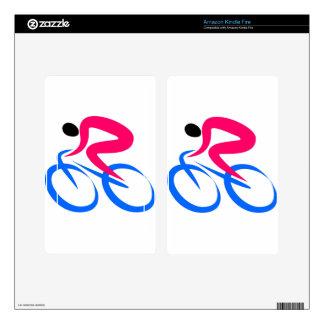Cyclist Icon Kindle Fire Skins