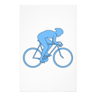 Cyclist in a Race. Blue. Flyer