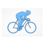 Cyclist in a Race. Blue. Invitations