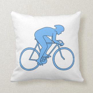 Cyclist in a Race. Blue. Pillows