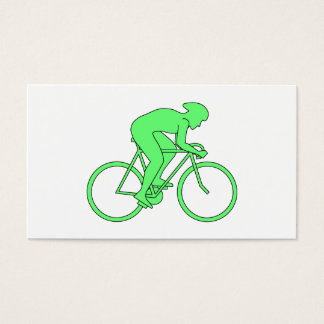 Cyclist in Green. Business Card