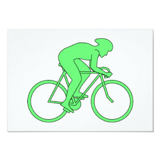 Cyclist in Green. Card