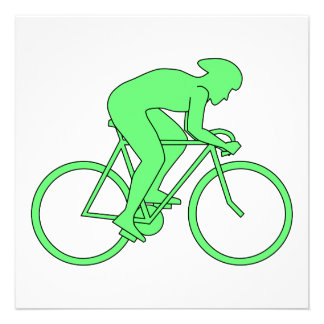 Cyclist in Green. Invites
