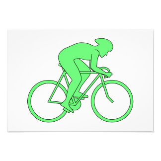 Cyclist in Green. Personalized Invites