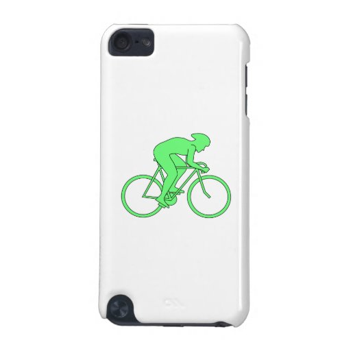 Cyclist in Green. iPod Touch (5th Generation) Cover