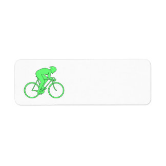 Cyclist in Green. Labels