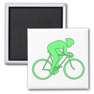 Cyclist in Green. Magnet