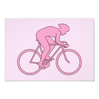 Cyclist in Pink Card