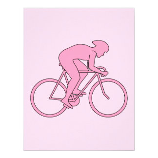Cyclist in Pink Custom Invitations