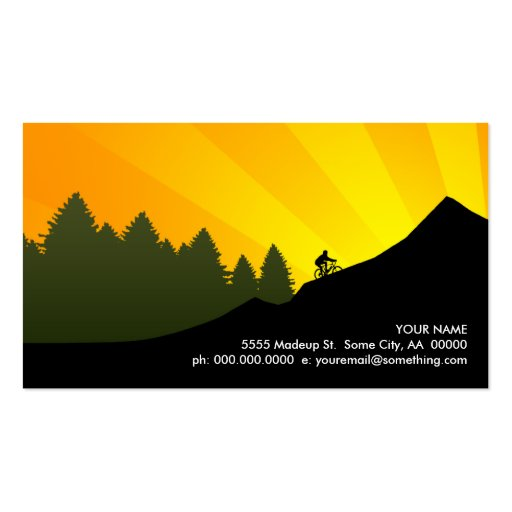 cyclist : mountain rays : business cards