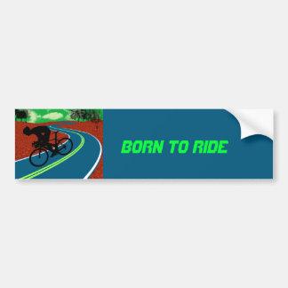 Cyclist on a Curved Highway Car Bumper Sticker