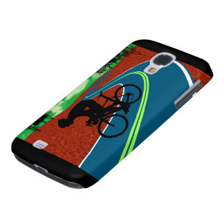 Cyclist on a Curved Highway Galaxy S4 Case