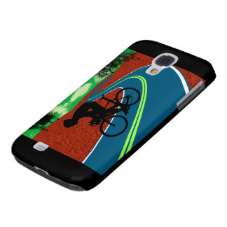 Cyclist on a Curved Highway Samsung Galaxy S4 Cover