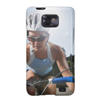 Cyclist on mountain road samsung galaxy SII case
