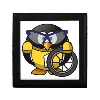 Cyclist penguin gift box