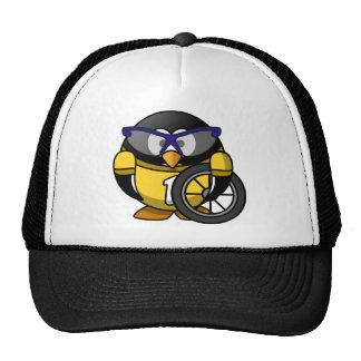 Cyclist penguin trucker hats