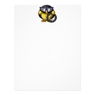 Cyclist penguin letterhead
