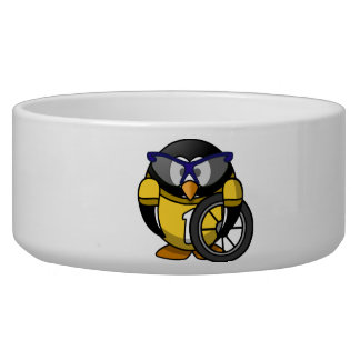Cyclist penguin dog water bowls