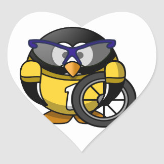 Cyclist penguin stickers