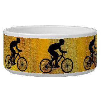 Cyclist Pet Bowl