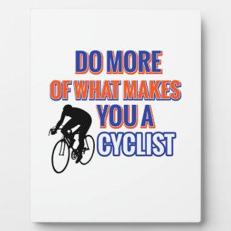 CYCLIST PLAQUE