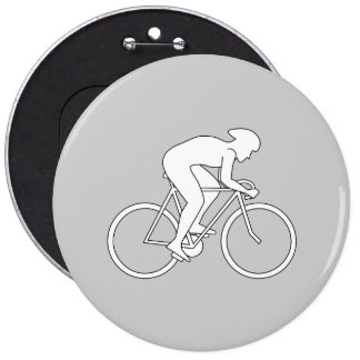 Cyclist Racer. 6 Inch Round Button