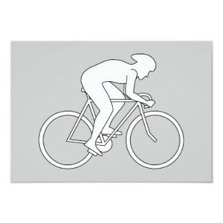 Cyclist Racer. Card