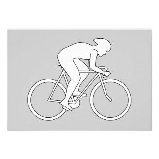 Cyclist Racer. Personalized Announcement