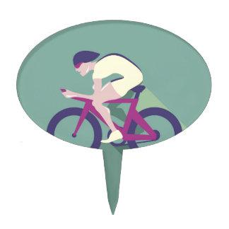 Cyclist racer Vector Cake Topper