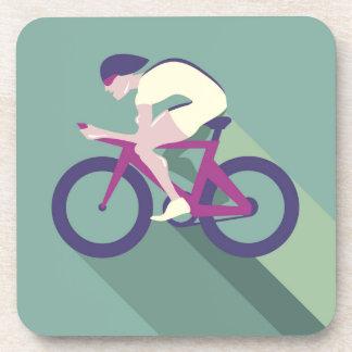 Cyclist racer Vector Drink Coaster