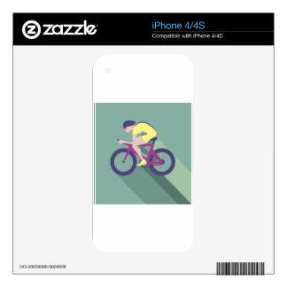 Cyclist racer Vector iPhone 4 Decals