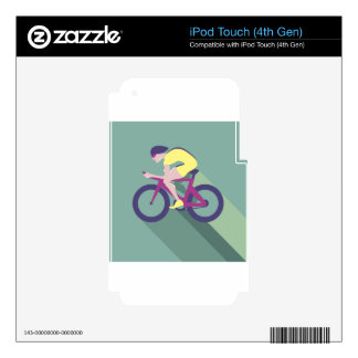 Cyclist racer Vector iPod Touch 4G Skin