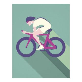 Cyclist racer Vector Letterhead