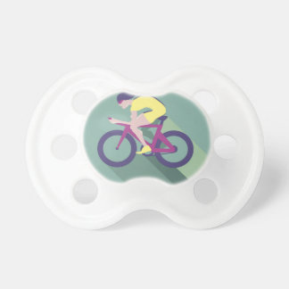 Cyclist racer Vector Pacifier