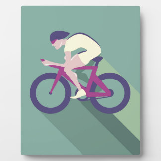 Cyclist racer Vector Plaque