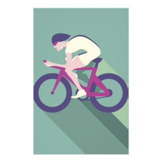 Cyclist racer Vector Stationery